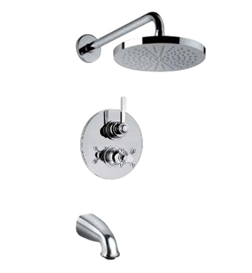 LaToscana 88691CR Firenze Thermostatic Valve Shower System With Finish: Chrome