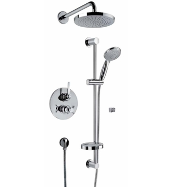 LaToscana 88791PW Firenze Thermostatic Valve Shower System With Finish: Brushed Nickel