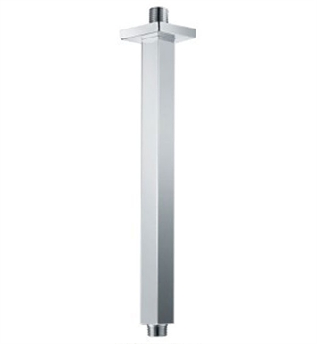 "ALFI Brand AB12SC-PC 12"" Square Ceiling Mounted Polished Chrome Shower Arm for Rain Shower Heads"