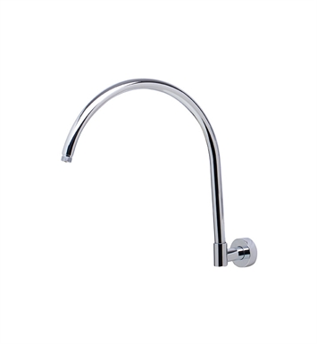 "ALFI Brand AB16GRW-PC 16"" Round Wall Mounted Polished Chrome Shower Arm for Rain Shower Heads"