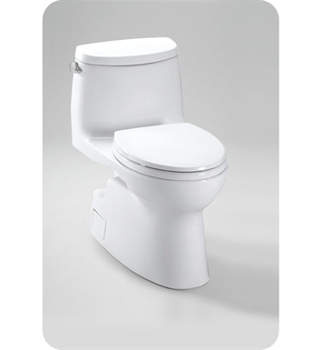 TOTO MS614114CEFG#11 Carlyle® II One-Piece High-Efficiency Toilet, with SanaGloss, 1.28GPF With Finish: Colonial White