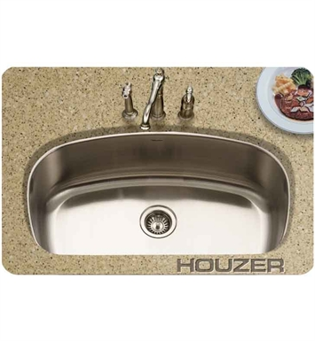 Houzer MB-3300-1 Undermount Single Basin Kitchen Sink