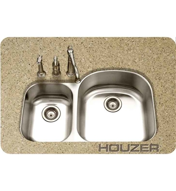 Houzer MC-3210SL-1 36 inch Undermount 70 / 30 Large Right Basin Kitchen Sink