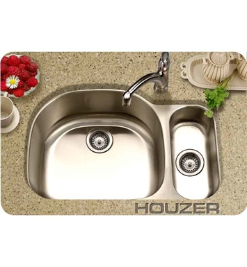 Houzer MG-3209SR-1 36 inch Undermount 80 / 20 Large Left Basin Kitchen Sink
