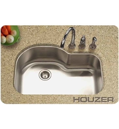 Houzer MH-3200-1 32 inch Undermount Single Oblong Basin Kitchen Sink