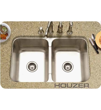 Houzer MGD-3120-1 Undermount Double Basin Kitchen Sink