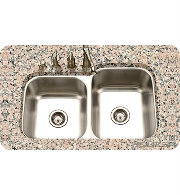 Houzer STE-2300SL-1 Double Basin Undermount Kitchen Sink with Super-Silencer and StoneGuard