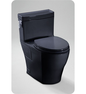 TOTO MS626214CEF#51 Aimes® One-Piece High-Efficiency Toilet in Ebony Black, 1.28GPF With Finish: Ebony <strong>(SPECIAL ORDER. USUALLY SHIPS IN 3-4 WEEKS)</strong>