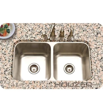 Houzer STD-2100-1 Undermount Double Basin Kitchen Sink