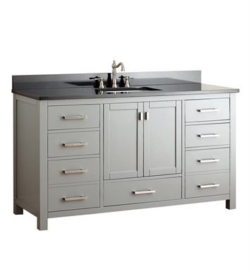"Avanity MODERO-V60-CG-A Modero 60"" Single Sink Bathroom Vanity in Chilled Gray finish"