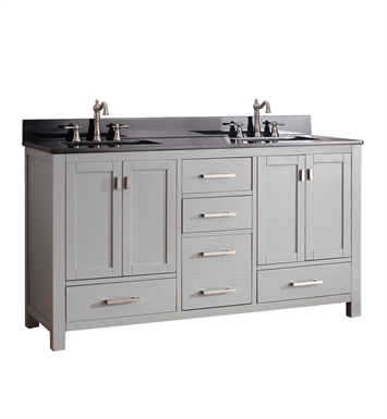 "Avanity MODERO-V60-CG Modero 60"" Double Sink Bathroom Vanity in Chilled Gray finish"