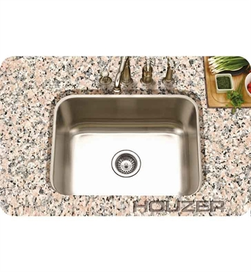 Houzer STS-1300-1 Rectangular Undermount Single Basin Kitchen Sink