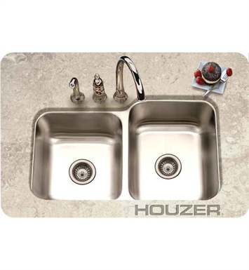 Houzer EC-3208SL-1 Undermount Large Right Basin Kitchen Sink
