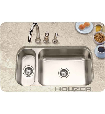 Houzer EHD-3118-1 Undermount 80 / 20 Large Right Basin Kitchen Sink