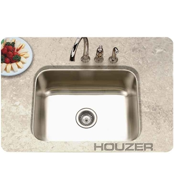 Houzer ES-2408-1 Undermount Single Basin Kitchen Sink