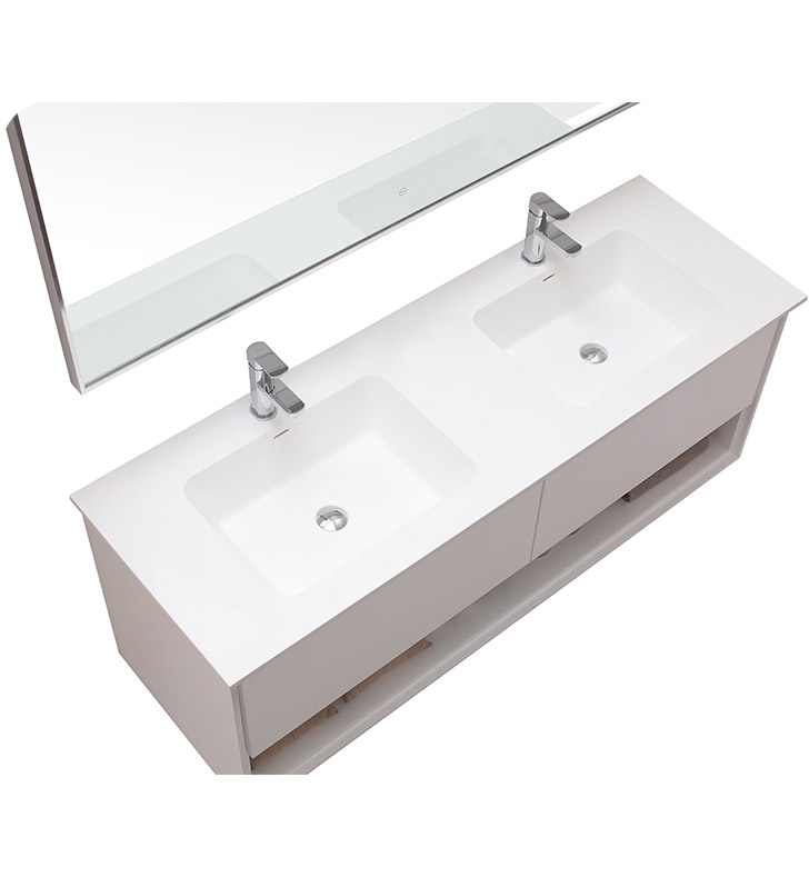 Avanity Sonoma V63 Wt Sonoma 63 Double Sink Bathroom Vanity In White Finish