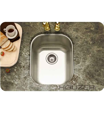 Houzer CS-1607-1 Undermount Single Basin Bar Sink