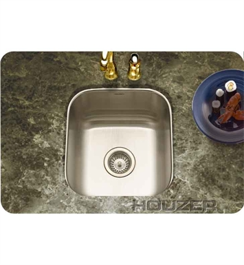 Houzer MS-1708-1 Undermount Single Basin Bar Sink