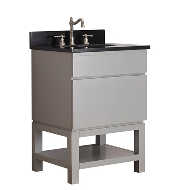 "Avanity TRIBECA-VB24-CG Tribeca 24"" Free Standing Bathroom Vanity with Base in Chilled Gray finish"