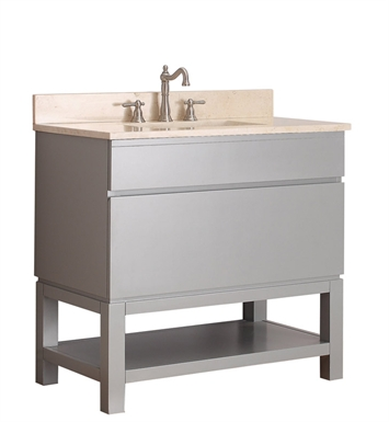 "Avanity TRIBECA-VB36-CG Tribeca 36"" Free Standing Bathroom Vanity with Base in Chilled Gray finish"