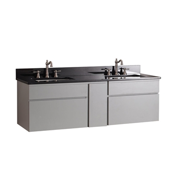 "Avanity TRIBECA-V60-CG Tribeca 60"" Wall Mount Double Sink Bathroom Vanity in Chilled Gray finish"