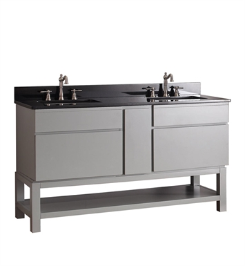 "Avanity TRIBECA-VB60-CG Tribeca 60"" Freestanding Double Sink Bathroom Vanity with Base in Chilled Gray finish"