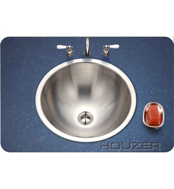 Houzer CRT-1620-1 Self Rimming Round Bathroom Sink
