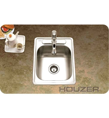 Houzer A1722-7BS-1 Glowtone ADA Self Rimming Single Basin Bar Sink