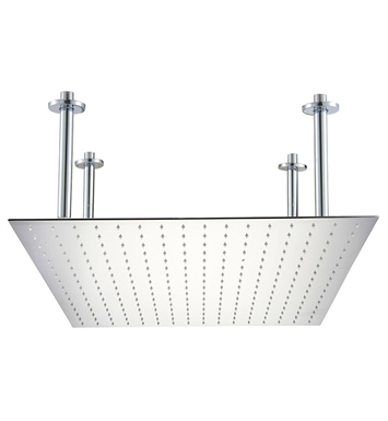 "ALFI Brand RAIN24S-PSS 24"" Square Polished Solid Stainless Steel Ultra Thin Rain Shower Head"