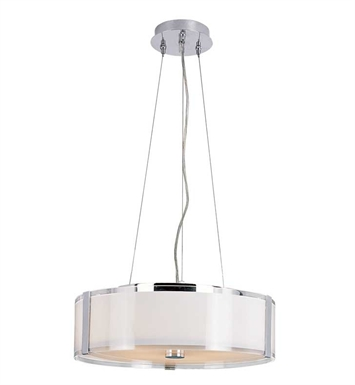 "Trans Globe 2093 Opal Chrome 16"" Wide Adjustable Pendant"