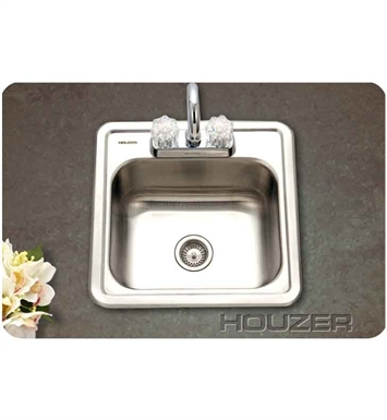 Houzer 1515-6BS-1 Self Rimming Single Basin Bar Sink