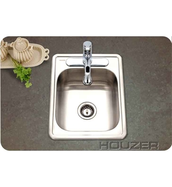 Houzer 1722-7BS-1 Self Rimming Single Basin Bar Sink