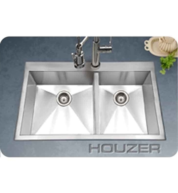 Houzer BCD-3322 Drop In 60/40 Double Basin Stainless Kitchen Sink