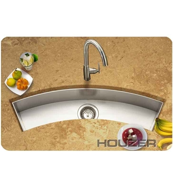 Houzer CTC-3312 Undermount Curved Single Basin Bar Sink
