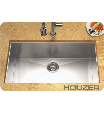 Houzer CTG-3200 Undermount Rectangular Single Basin Kitchen Sink