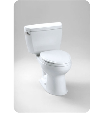 TOTO CST744EG#01 Eco Drake® Toilet, 1.28 GPF SanaGloss® with CEFIONTECT Glaze Color With Finish: Cotton