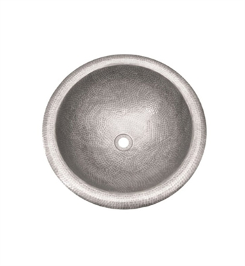 Houzer HW-AUG2RS Self Rimming Round Hand Hammered Copper Bathroom Sink in Pewter Finish
