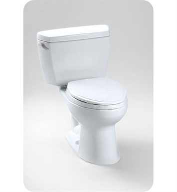 TOTO CST744SF.10#01 Toto Drake® Two-Piece Toilet, 1.6GPF Left Hand Trip Lever With Finish: Cotton