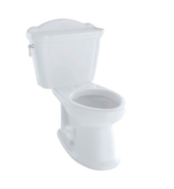 TOTO CST754SFN#11 Whitney Two-Piece Elongated Toilet with 1.6 GPF Single Flush With Finish: Colonial White