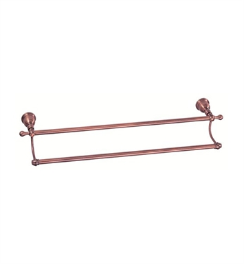 "Danze D443611AC Opulence™ Double Towel Bar 24"" in Antique Copper"