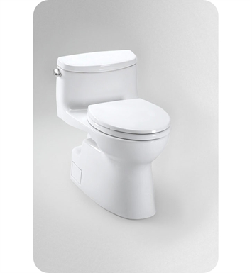 TOTO MS644114CEFG#01 Carolina® II One-Piece High-Efficiency Toilet, with SanaGloss, 1.28GPF With Finish: Cotton