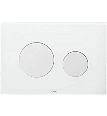 TOTO YT830#WH YT830 Round Dual Button Push Plate With Finish: White