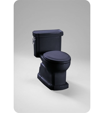 TOTO MS974224CEF#51 Eco Guinevere® Toilet in Ebony Black, 1.28 GPF ADA With Finish: Ebony <strong>(SPECIAL ORDER. USUALLY SHIPS IN 3-4 WEEKS)</strong>