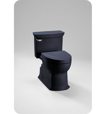 Toto Eco Soirée® One Piece Toilet in Ebony Black, Universal Height, 1.28 GPF