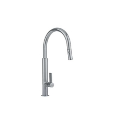 Franke FF2780 Satin Nickel Pullout Spray High Arch Kitchen Faucet