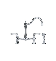 Franke FF7000a Polished Chrome Bridge Kitchen Faucet with Side Spray