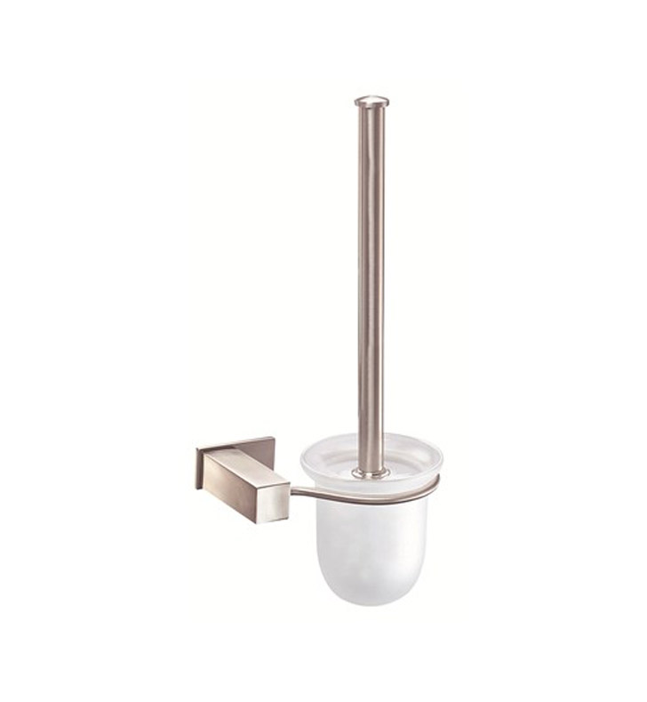 danze d446138bn sirius toilet brush and holder in brushed nickel. Black Bedroom Furniture Sets. Home Design Ideas