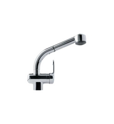 Franke FFPS600A Chrome Pullout Spray Gooseneck Spout Kitchen Faucet with Dual Spray