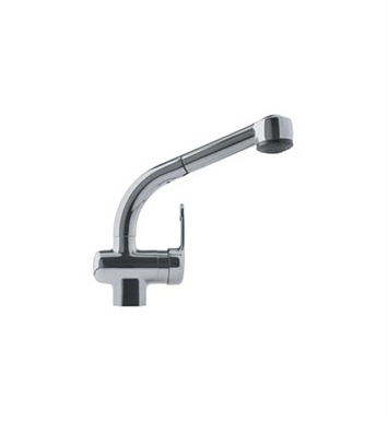 Franke FFPS680A Satin Nickel Pullout Spray Gooseneck Spout Kitchen Faucet with Dual Spray