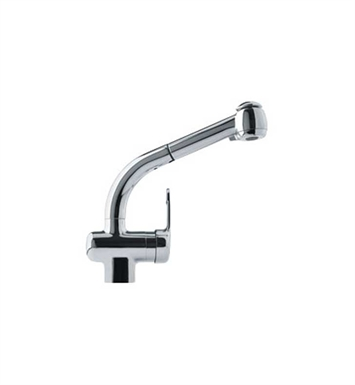 Franke FFPS600B Chrome Pullout Spray Gooseneck Spout Kitchen Faucet with Dual Spray